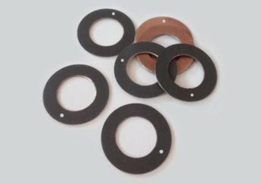 Chemical Resistance Thrust Washer / Round / Composite Low Noise Steel Bronze Ptfe Wc10du supplier