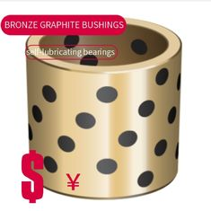 High Hardness C86300 Graphite Plugged Bushings Oilless Bearing Manganese Bronze