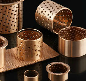 Cusn8 & Cusn6.5 Self Lubricating Plain Bearing Bronze Wrapped Bearings With Holes Strips