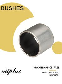 China Stainless Steel Ptfe / Kevlar Fabric Lined Split 316 Composite Bearings Flanged Bushes factory