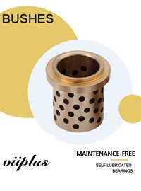 China Centrifugal Casting High Hardness C86300 Manganese Bronze Graphite Plugged Bushings Oilless Plain Bearings factory