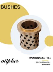Centrifugal Casting High Hardness C86300 Manganese Bronze Graphite Plugged Bushings Oilless Plain Bearings supplier