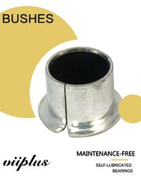 China Transmission Gearbox Steel Collar Bronze PTFE Bushes Self Lubricating Bearing factory
