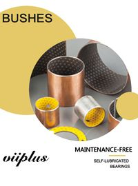 Maintenance-free Bushes with steel PTFE & POM backing Bearing Flanged Bushes Size supplier