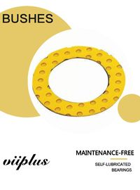 Yellow Pump Polymer Plain Bearings & Washer Gasket  | Wear Resistance Spacer Shim