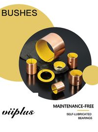China Multi-layer Bearings POM   Boundary Lubricating Bearings | VIIPLUS Bushings online sale similar FRI-MIX bushings factory