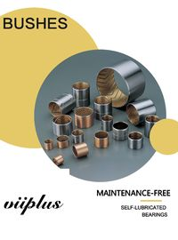 China Bimetal-Bushings JF800 | Self Lubricating bearings Wrapped steel bushing & split carbon steel bronze alloy CuSn10Pb10 factory