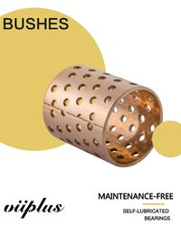 China Flanged Bronze Metallic Self-Lubricating Bushings with thru Holes Material CuSn8 / CuSn6.5 factory