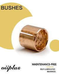 Flanged Bronze Bushings Cusn8 DIN1494 / ISO 3547 Lubrication 090 Diamond Pockets & Oil Grooves
