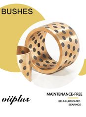 C86300 SAE430B Manganese Bronze Bushings | Sliding Bearings Oil Less Graphite Plugged