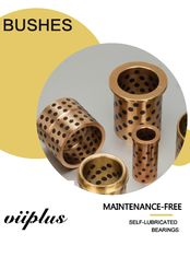 Solid Bronze Graphite Plugged Bushings Large Size supplier