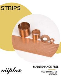 China Cylindrical Bronze Bushes diamond Oil Bronze Flange bearing Composite bearing Strips factory