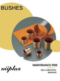 Orange Satinless Steel Bronze Bushing Material / POM Layer Bushings Plate supplier