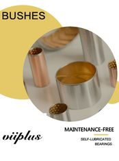 China Double Layer Bushing Bimetal steel bronze flange bush CuPb10Sn10 indents factory