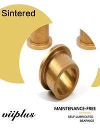 Sintered Metal Lubrication Plain Bearings Graphite Impregnated Flanged Oilite Bronze Bushing