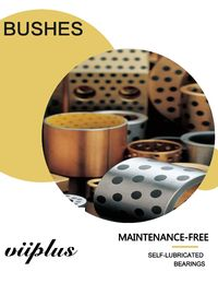 Tin Bronze EN Casting Copper Alloy Bearings CuSn12 Sleeve & Flange Bushings For Hydraulic Components