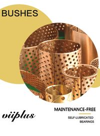 Rolled Tin Bronze Perforated Bushings | CuSn8 Sliding Bushing Oil Perforations