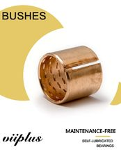 CUSN8P DIN 17662 Wrapped Bronze Bushing Large Lubricatin Depots Heavy Maintenance Standard Size Tolerance