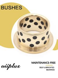 Double Loop Oil Grooved Cast Bronze Bushings Self Lubricating Bearing Corrosion Resistance