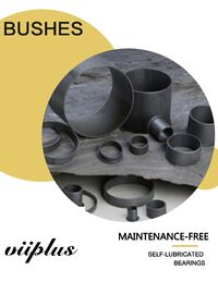 China High-performance Cylindrical Plastic Plain Bearings & Flange Bushing factory