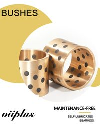 Maintenance Free Graphite Plugged Bronze Bearings Valves Bushing Steel / Copper Composite