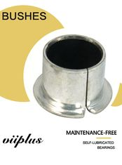 China Custom Designed & Manufactured Bearings and Bushings Steel Journal Valve Split Bushes Fiber PTFE Glide factory