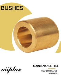 China Industrial Cast Bronze Bushings 2.0m/S Sliding Speed For High Speed And Low Load factory