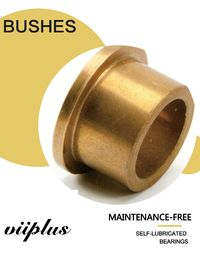 Powder metallurgy plain bearing | Sintered Bronze Bushings Guide Sleeve For Butterfly Valves , DN A50 DIN