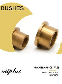 Butterfly Valves Cast Bronze Bushings , Oil Impregnated Bronze Bearings DN 100 Size