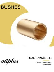 DN 200 Cast Bronze Bushings , Bronze Sleeve Bearings Low - Maintenance supplier