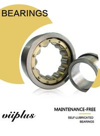 Low - Maintenance Dry Sliding Bearing , Cylindrical Roller Bearing & Bushings