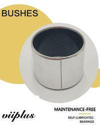 Control Valve Stem Bushing Ptfe | Sleeve Stainless Steel Bushes high temperature  Coated Bushes DIN 1494
