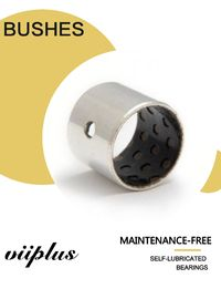 PEEK / PTFE Oilless Bushes Metal - Polymer Hydrodynamic Composite Material