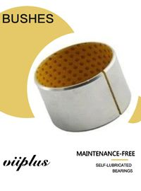Rolled Bronze Yellow Pom Flanged Sleeve Bushing Boundary - Lubricating