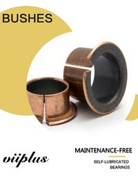 China Metric Sized Journal Bearings—Coiled Bronze PTFE Backing Bushings | Self-lubricating bearings factory