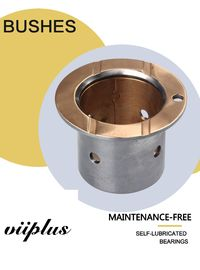 China Shaft Oil Grooves & Lock Flange Bimetal Bearing Bushes With Oil Indentation CuSn10Pb10 factory
