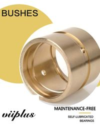 High Tolerance CNC Centrifugal Casting C86300 Bronze Plain Bushing With Oil Groove Bearing Bush