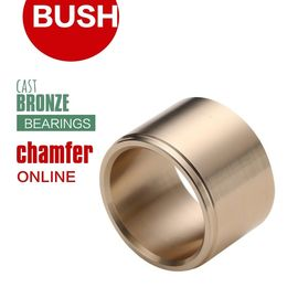 China Shoulderless Bronze Guide Groove Sleeve Bush Slides & Cams Can Be Axially Secured factory