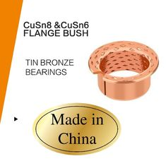 CuSn8 & CuSn6 Material Wrapped Bronze Sliding Bearing With Filled Lubrication Pockets supplier