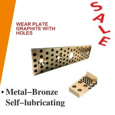 Wear Strip Ways Plain Bearing Solid Bronze Graphite Plugs Drilled & Counterbored Holes supplier