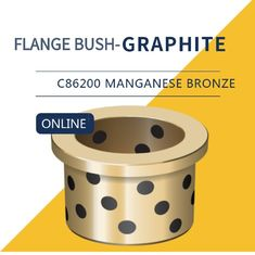 China UNS C86200 430A Manganese Bronze Bushing Plugged Graphite Cast Flange Bearings factory