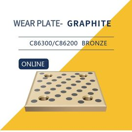 Wear Strip Ways Plain Bearing Solid Bronze Graphite Plugs Drilled & Counterbored Holes