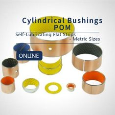 Flat Strips Carbon Steel Bronze POM Strips Composite Bearings Cylindrical Bushings DIN 1494 supplier