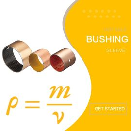 Metal - Polymer Bronze Plain Bearings Grease Lubricated POM Cylindrical Bushes supplier
