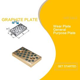 Brass 500 SWP Wear Bronze Plate With Graphite Embedded Mounting Hole supplier