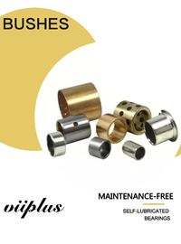 Precision Parts Sintered Tin Lead Bronze Alloy Bimetal Steel Bushings Split Joint Flanged supplier