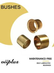 Cylindrical Bushes Bronze Plain Sleeve Bearings With Grease Reservoirs Oil Holes