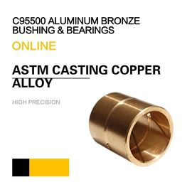 C95800 Aluminum Bronze Bearing ASTM UNS / SAE Casting Copper Alloy Bushing & Plate supplier