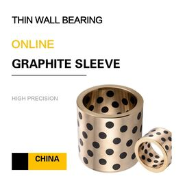 China Thin Wall Copper Bearing With Graphite Self Lube Bronze Components For Press Dies factory