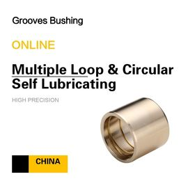 China Copper CuSn7Zn4Pb7 Multiple Loop & Circular Self Lubricating Grooves Bushing For Mining Loading factory